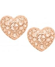 Fossil JF01151791 Ladies vintage motiver rosa guld stål stud øreringe
