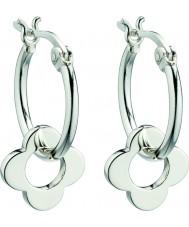 Orla Kiely E5226 Ladies sterling sølv fire point blomst hoop øreringe