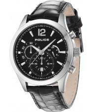 Police 12757JS-02 Mens ohio sort læderrem ur