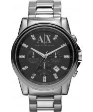 Armani Exchange AX2092 Mens Black sølv kronograf kjole ur