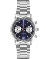Rotary GB90130-05 Mens les originales sport hævner blå sølv kronograf ur
