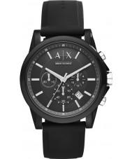 Armani Exchange AX1326 Sport sort silikone kronograf ur