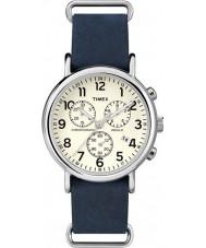 Timex TW2P62100 Weekender blå rem kronograf ur