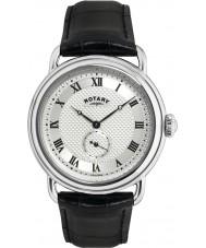 Rotary GS02424-21 Mens ure Sherlock Holmes sølv sort ur