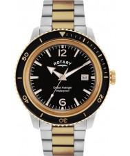 Rotary GB02695-04 Mens ure ocean hævner steg stål ur