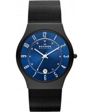 Skagen T233XLTMN Mens Aktiv blå og sort titanium ur