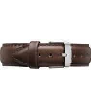 Daniel Wellington DW00200023 Mens klassiske bristol 40mm sølv brun læder reservedele rem