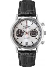 Rotary GS90130-06 Mens les originales sport hævner sort stål kronograf ur