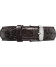 Daniel Wellington DW00200025 Mens klassiske york 40mm sølv mørk brun læder reservedele rem