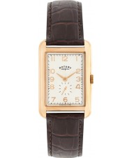 Rotary GS02699-01 Herre ure portland rosa guld brun læderrem ur