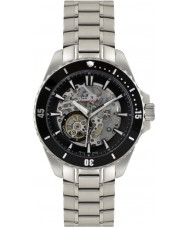 Rotary AGB90078-A-04 Mens AQUASPEED sølv stål skelet automatisk ur