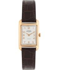 Rotary LS02699-01 Ladies ure portland vintage ser brun læderrem ur