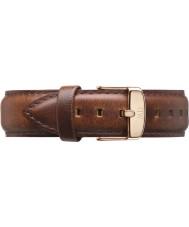 Daniel Wellington DW00200006 Herre klassiske 40mm St Mawes rosa guld lys brun læder reservedele rem