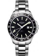 Rotary GB05017-04 Mens ure havana sølv tone stål ur