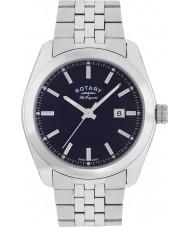Rotary GB90110-05 Mens les originales Lausanne sølv stållænke ur