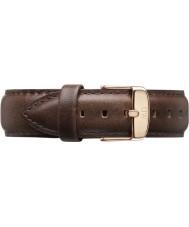 Daniel Wellington DW00200009 Mens klassiske bristol 40mm rosa guld brun læder reservedele rem