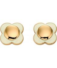 Orla Kiely E5160 Ladies daisy chain 18kt guld creme blomst stud øreringe