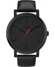 Timex T2N794 Mens Black klassiske runde ur
