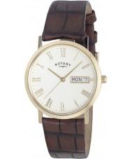 Rotary GS02324-32 Mens ure windsor hvid brun ultra slanke ur