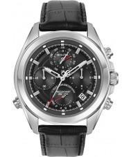 Bulova 96B259 Mens precisionist sort læderrem kronograf ur