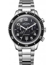 Rotary GB05021-04 Mens ure ocean hævner chrono sort stål ur