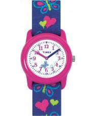 Timex T89001 Børn sommerfugle hjerter elastisk stof rem ur