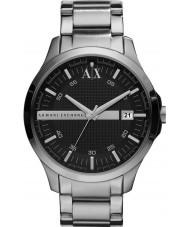 Armani Exchange AX2103 Mens Black sølv armbånd kjole ur