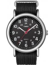 Timex T2N647 Mens alle sorte Weekender slipper igennem ur