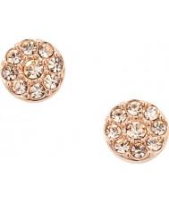 Fossil JF00830791 Ladies vintage glitz rosa guld stål stud øreringe