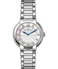 Dreyfuss and Co DLB00060-D-01 Ladies 1974 diamant sæt sølv ur