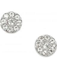 Fossil JF00828040 Ladies vintage glitz sølv stål stud øreringe