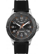 Timex TW2P87200 Mens Taft gade sort silikone rem ur