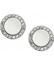Fossil JF01791040 Ladies klassiske sølv stål spejlet ørestikker