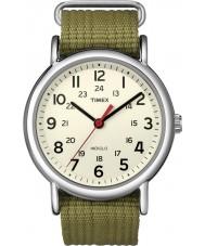 Timex T2N651 Mens naturlige oliven weekender slippe igennem ur