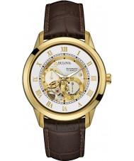 Bulova 97A121 Mens automatisk brun kronograf ur