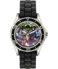 Disney AVG3529 Marvel drenge ur med sort silikone rem