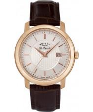 Rotary GS90093-06 Mens les originales brun læder ur
