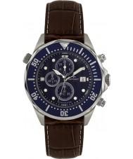 Rotary AGS00070-C-05 Mens AQUASPEED blå brun kronograf ur