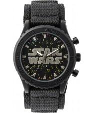 Disney STW1301 Drenge sort velcro ur med stjerneklar dial