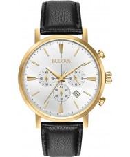 Bulova 97B155 Mens Aerojet guld sort kronograf ur