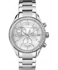 Timex TW2P66800 Ladies byen sølv stållænke ur
