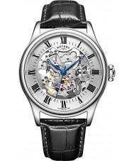Rotary GS02940-06 Herre ure sølv sort skelet mekanisk ur