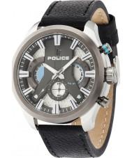 Police 14639JSTU-04 Mens cyklon sort læderrem ur