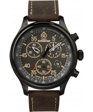Timex T49905 Mens Black brun ekspedition felt kronograf ur