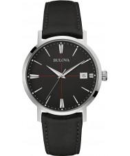 Bulova 96B243 MENS Aerojet sort læderrem ur