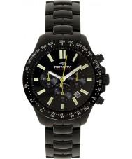 Rotary AGB00085-C-04 Mens AQUASPEED sort kronograf ur