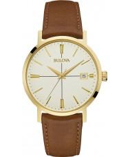 Bulova 97B151 MENS Aerojet brun læderrem ur