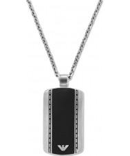 Emporio Armani EGS1921040 MENS slanke fløjl to tone stål halskæde