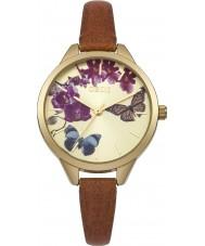 Oasis B1540 Ladies tan læderrem ur