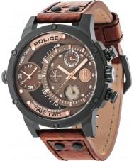 Police 14536JSB-12A Mens adder brun læderrem ur